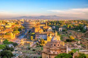 רומא העתיקה בשקיעה, תצפית מגבעת הקפיטול